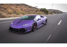 Lamborghini Huracan carbon fibre vented front fenders and rear bumper with diffuser