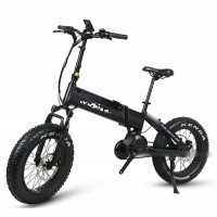 E-Flow SF6 fat tire 1000W mid motor belt-driven folding ebike