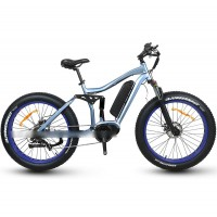 RAMPAGE S29-M fat tire 250W full suspension mountain Ebike