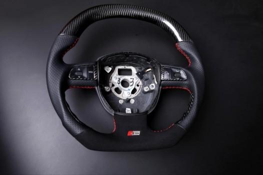 AUDI - carbon enhanced, custom steering wheel