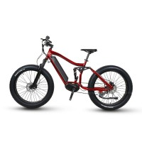 RAMPAGE S45-M fat tire 350W mid motor full suspension all terrain e-MTB